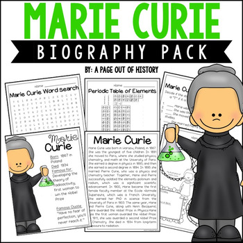 Marie Curie Biography Pack (Women's History)