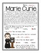 Marie Curie Reading Passage