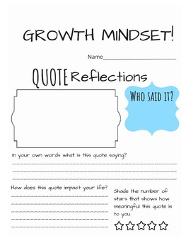 Marie Curie STEM Growth Mindset Poster