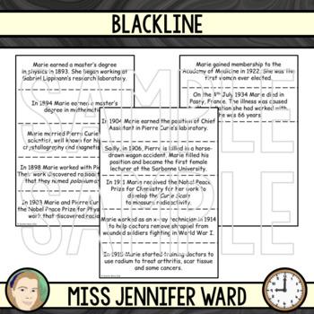 Marie Curie Timeline Activity