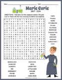 Marie Curie Word Search Puzzle
