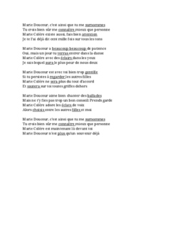 French Music - Marie Laforêt - Marie Douceur, Marie Colère - Futur simple