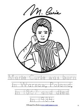 Marie and Pierre Curie Coloring Book Level B