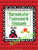 Marienkäfer - Feinmotorik Übungen