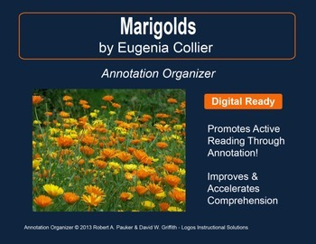 """Marigolds"" by Eugenia W. Collier: Annotation Organizer"