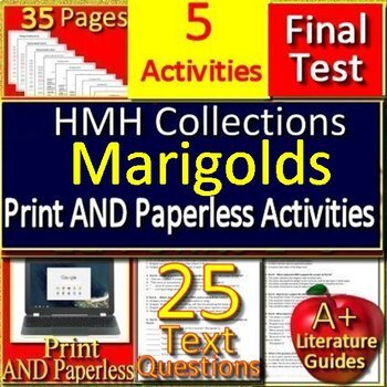 Marigolds by Eugenia Collier  - 8th Grade HMH Collections 4 Activities and Test