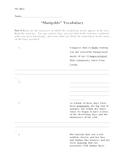 Marigolds Vocabulary Worksheet