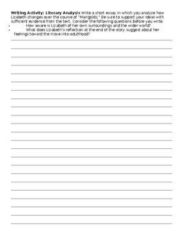 Marigolds Writing Task