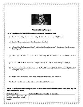 """Marigolds"" and ""American History"" Analysis, Homework, and Quiz"