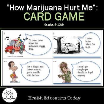 Health Lesson: Marijuana Card Game: Engaging Marijuana Lesson Plan!