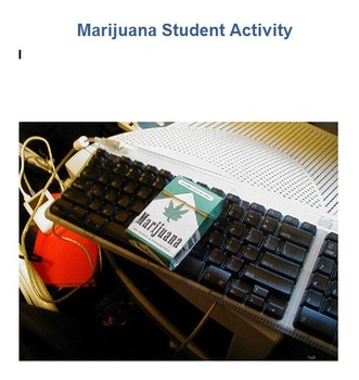Marijuana Student Activity Worksheet