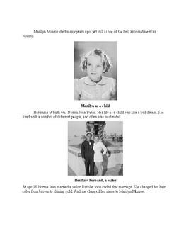 short biography on marilyn monroe