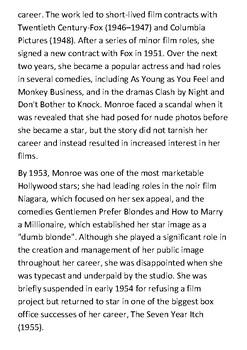 Marilyn Monroe Handout