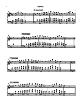 Marimba 12 Scale Sheet