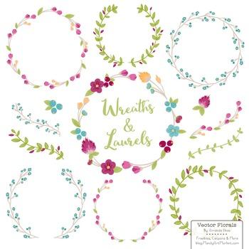 Marina Bohemian Floral Wreaths & Laurels