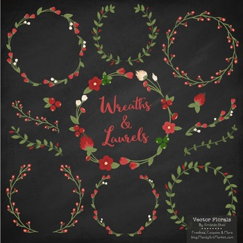Marina Christmas Floral Wreaths & Laurels