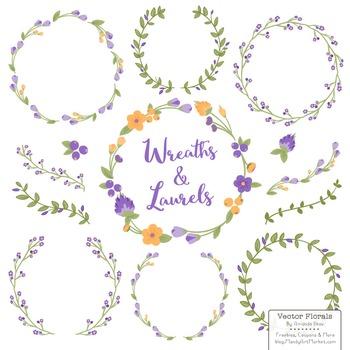Marina Crocus Floral Wreaths & Laurels