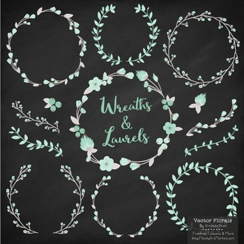 Marina Mint Floral Wreaths & Laurels
