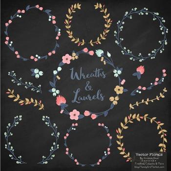 Marina Modern Chic Floral Wreaths & Laurels