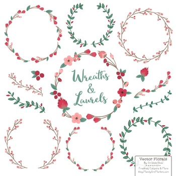 Marina Rose Garden Floral Wreaths & Laurels