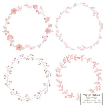Marina Soft Pink Floral Wreaths & Laurels