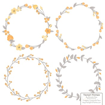Marina Sunshine Yellow Floral Wreaths & Laurels