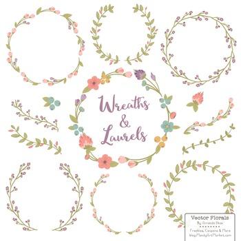 Marina Vintage Floral Wreaths & Laurels