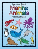 Marine Animals - Learn Your Colors - Coloring Pages