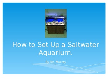 Marine Aquarium Set up directions and free notes page in preview window.