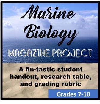 Marine Biology Magazine Research Project