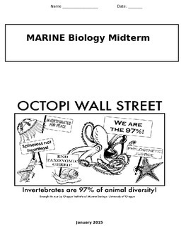 Marine Biology Midterm for High School