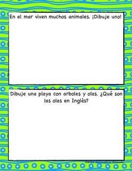 Marine Biology Printable in Spanish