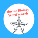 Marine Biology Word Search