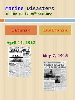 Marine Disasters In The Early 20th Century: Comparing The