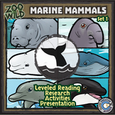 Marine Mammals - Zoo Wild Bundle - Leveled Reading, Slides & Activities