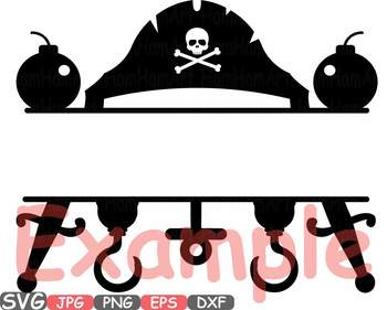 Marine Nautical Navy Circle & Split clipart Pirate's pirate frame frames - 634s