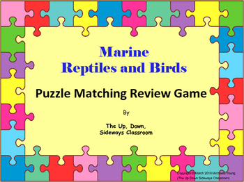Marine Reptiles and Birds Puzzle Matching Review Game