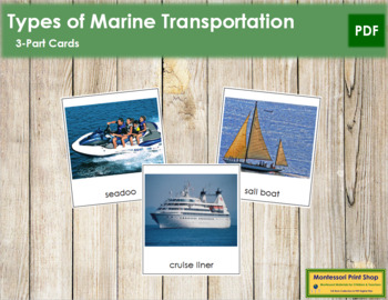 Marine Transportation: 3-Part Cards