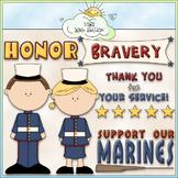 Marines Clip Art - Military Clip Art - Armed Forces Clip Art - CU Clip Art & B&W