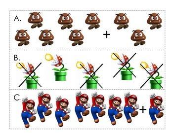 Mario Bros. Addition and Subtraction Write the Room