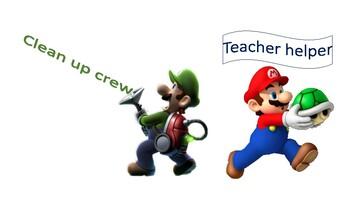 Mario Bros Classroom Jobs