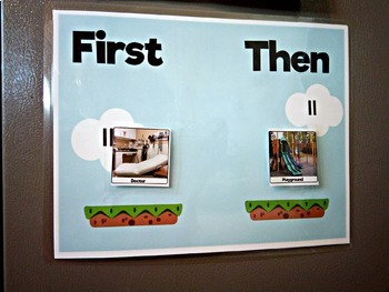Mario Bros Inspired First Then Communication Board