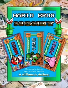Mario Bros Themed Play Fun Money Set