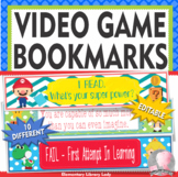 Video Game Decor EDITABLE Growth Mindset Bookmarks or Name Plates