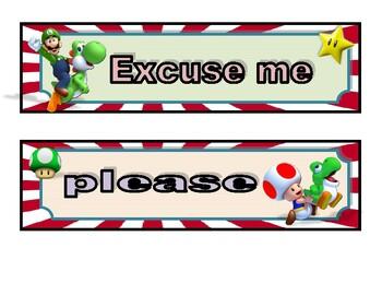 Mario Bros magic words