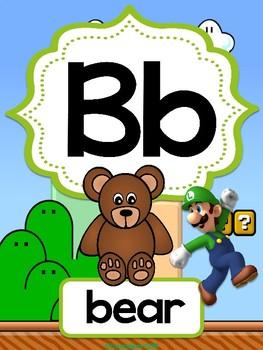 Mario Brothers Alphabet Posters
