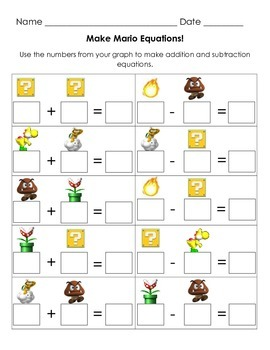 Mario Brothers Graphing and More!