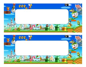 Mario Brothers Labels
