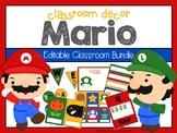 Super Mario:  Classroom Editable Decor
