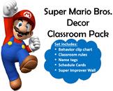 FREE Super Mario Bros Classroom Decor (Includes WBT Rules & Super Improver Wall)